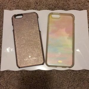 Four iPhone 6s cases, three Kate Spade